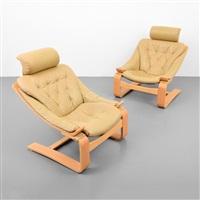 3483f3ec1 Pair of Ake Fribytter Lounge Chairs. Ake Fribyter