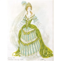 costume design for beverly sills as ginevra in handel's ariodante, the kennedy center by jose varona