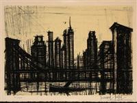 new york scene (sorlier 58) by bernard buffet