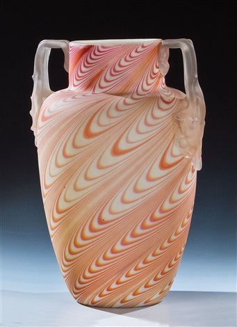 henkelvase by gräfliche harrachsche glasfabrik co