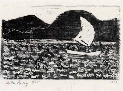 sailboat by milton avery