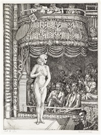 striptease at new gotham by reginald marsh