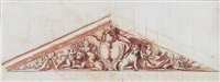 design for the central pediment relief on the north facade of castle benrath, mannheim by peter anton von verschaffelt