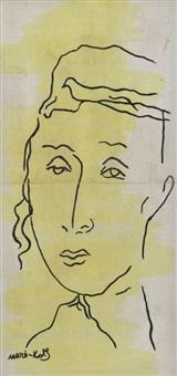 portrait d'un jeune hassid by mané-katz