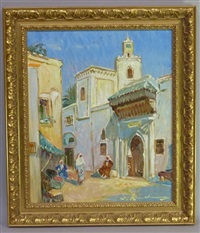 ruelle dans la médina au maroc by martin lindenau