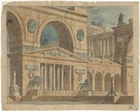 architettura fantastica raffigurante monumenti romani by antonio basoli