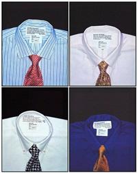 beyond decorum, men's shirts series (5 works) by iké udé