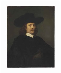portrait of a man, half-length by ferdinand bol