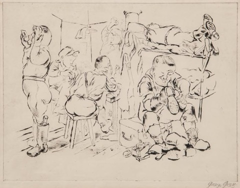 nach getaner arbeit by george grosz