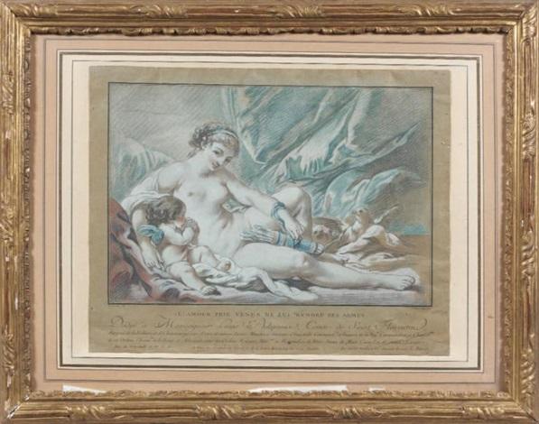 tête de jeune fille (after françois boucher)(+ 4 others, various sizes; 5 works) by louis marin bonnet