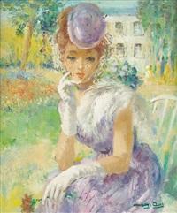 jeune femme à la mantille by marguerite aers