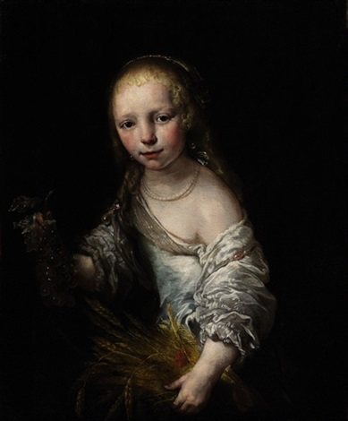portrait of a girl as ceres by jürgen ovens