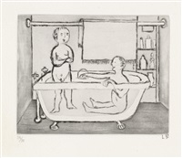 children in tub (from autobiographical series) by louise bourgeois