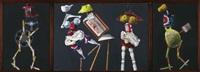konstruktive figuren (triptych) by karl heidelbach