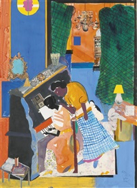 the piano lesson by romare bearden