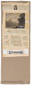 untitled (from shirtboards) by robert rauschenberg