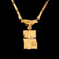 necklace, sacrificial stone by björn weckström