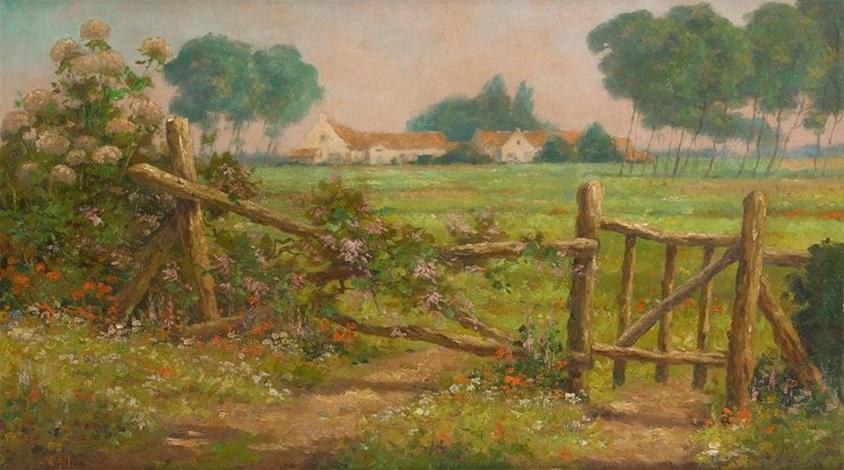 barrière fleurie by marcel lizen