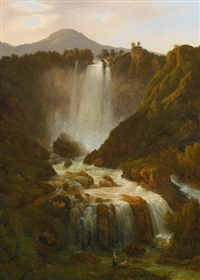 the cascata delle marmore on the river velino near terni by giambattista bassi