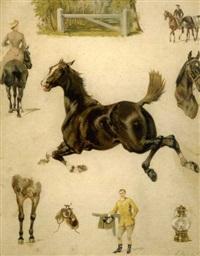le cheval de selle by ernest alexandre bodoy