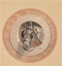 pferdeköpfe - trompe l'oeuil (2 works) by anton zampis