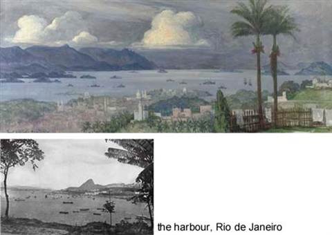 a panoramic view of rio de janeiro brazil by ernst vollbach vollbehr
