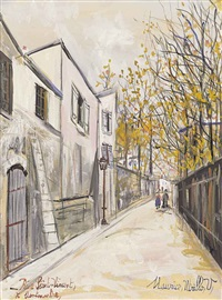 rue saint-vincent, montmatre by maurice utrillo