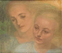 deux visages féminins by suzanne fabry