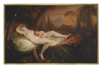 venus and cupid in a wooded landscape by henry tresham