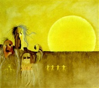 sun spirits on the mesa by len agrella