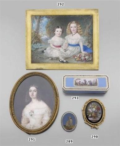 buste de jeune femme en robe de dentelle blanche by chereau antonine