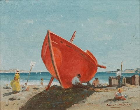 the red boat by raoul millais