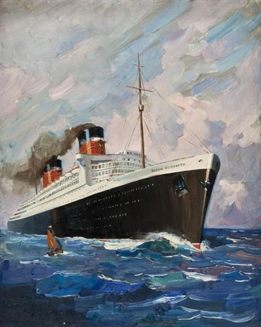 rms queen elizabeth by terence cuneo