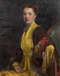 portrait of mrs. lockman by dewitt mcclellan lockman