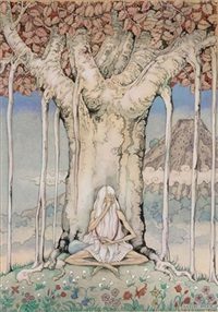 the 776st night, the story of farizad with the rose smile; the old man under the tree by anton pieck