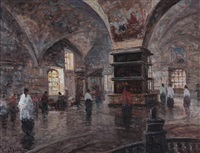 interno della basilica di santa maria by alessandro catalani