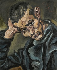portrait eines jungen mannes (portrait of a young man) by ludwig meidner