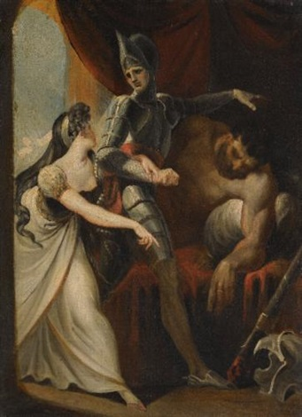 hüon rescuing angela from the giant angulaffer from wielands oberon by henry fuseli