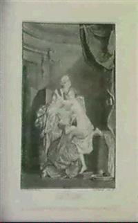 le bain; le lever (21:16.5 und 28.8: 21.3 cm) by nicolas-francois regnault