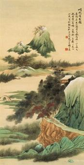 峒关蒲雪图 立轴 设色纸本 by qi dakui