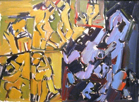 dancing figures by pinchas litvinovsky