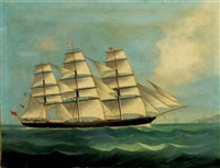 "the british clipper ship ""british commerce"" calling for a pilot in far eastern waters by anglo-chinese school (19)"