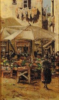 scena di mercato (+ 2 others; 3 works) by fernando del basso