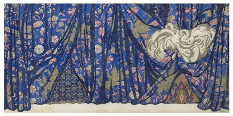 theatre curtain design by leon bakst