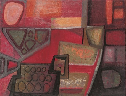 red painting by anne e. christopherson