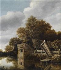 ein bauernhaus an einem fluss by roelof van vries