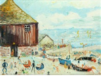 boats and roundhouse, sennen by simeon stafford
