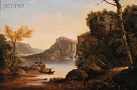 landscape with fishermen by ambrose andrews