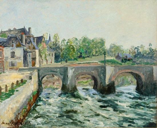 le pont saint goustan à auray morbihan by maxime maufra