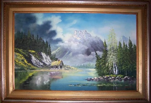 untitled mountain scene by bill alexander